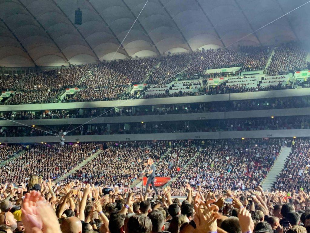 James Hetfield podczas koncertu Metalliki w Warszawie