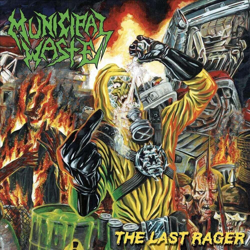Okładka płyty The Last Rager zespołu Municipal Waste