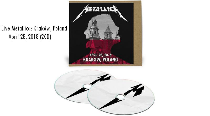 Koncert Metalliki w Krakowie do kupienia na płytach